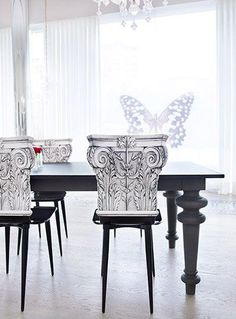 Amazing chairs ....... A lookbook of interior design, product design and furniture design by Philippe Starck - Creative Director, yoo inspired by Starck. #luxuryinteriordesign