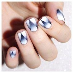 Black & White. nail art by Bulleuw