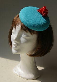 Ozmonda Hat - turquoise and red Pinup, Derby, Mad, Dream Wedding, Turquoise, Celebrities, Gallery, Holiday, Gifts