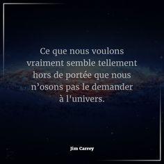 """#Citation du jour : #Attitude & #Pensée #Positive. """"Ce que nous voulons vraiment semble tellement hors de portée que nous n'osons pas le demander à l'univers."""" - Jim Carrey  #Vivez & #Participez aux #Développements de vos compétences dans un des secteurs chez www.bionoxo.com de santé et bien-être.   Si vous souhaitez faire partie de nos #partenaires ou parmi nos #équipes expérimentées, n'hésitez pas à nous contacter pour tous renseignements #Email: contact@bionoxo.com #PositiveQuoteNº192."""
