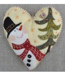 HIVER 2014 BONHOMME Felt Christmas Decorations, Felt Christmas Ornaments, Handmade Ornaments, Handmade Bookmarks, Felt Snowman, Snowmen, Christmas Trimmings, Felt Patterns, Felt Applique