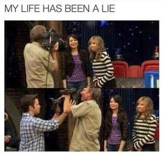 iCarly lied to me Childhood Ruined, Right In The Childhood, Seinfeld, Gossip Girl, Tumblr Funny, Funny Memes, Kpop Memes, Memes Humor, Funny Quotes