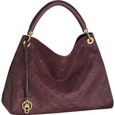 """*Size: 18.1"""" x 12.6"""" x 9.4"""" *Embossed calf leather with smooth leather trimmings *Louis Vuitton engraved eyelets, rings and bag charm *1 interior long zipped pocket and 6 patch pockets *D*ring for keys and accessories *Bag charm that can be used inside as a key*hanger *striped textile lining *Protective bottom studs"""