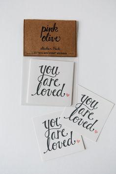 you are loved sticker set - pinkoliveinc  #etsy