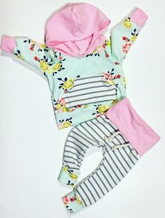 Baby girl clothes / cute baby clothes / baby shower gift / floral baby outfit…