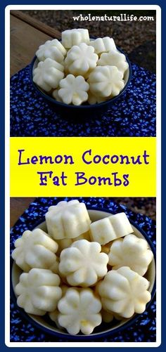 Diet Recipes These lemon coconut fat bombs are a delicious way to add more healthy coconut oil to your diet. Try this easy fat bomb recipe today! - Lemon Coconut Delights: A Healthy, Easy and Delicious Way to to Eat More Coconut Oil! Lemon Fat Bombs, Coconut Fat Bombs, Lemon Coconut, Coconut Recipes, Real Food Recipes, Coconut Oil, Ketogenic Recipes, Low Carb Recipes, Healthy Recipes