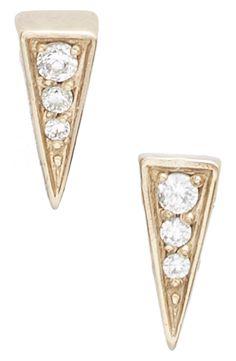 mini pyramid pavé stud earrings
