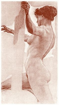 Study for the painting Odysseus and the sirens. Otto Greiner, from Zeichnungen von Otto Greiner (Drawings of Otto Greiner), with an introduction by Hans Wolfgang Singer, Leipzig, circa 1912.