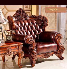 high quality European antique living room sofa furniture genuine leather set 1068 – fashion Building Furniture, Sofa Furniture, Furniture Manufacturers, Furniture Companies, Antique Living Rooms, Leather Sofa Set, Living Room Sofa, Antiques, Design