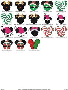 10 christmas Mickey head Disney Machine by AlwaysDarling on Etsy