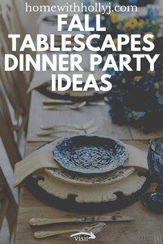Are you looking for Fall tablescapes ideas? I have 10 Fall themed Tablscapes ideas for you. These simple Fall tablescapes are what you need. I have fall tablescapes that fit everyone's styles, from farmhouse to elegant Thanksgiving tablescapes that are elegant. If you want more Fall inspiration, visit Home with Holly J. Thanksgiving Table Settings, Thanksgiving Centerpieces, Christmas Tablescapes, Holiday Tables, Holiday Dinner, Autumn Centerpieces, Fall Table, Decorative Trays, Autumn Theme