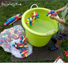 Lego inspired sponge water bombs « Atop Serenity Hill