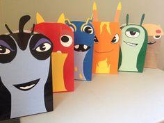 Imprimibles fiesta de Slug regalo sacos para por ClearlyCandace