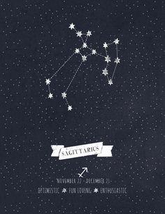 Sagittarius Constellation Astrology Art Art Print