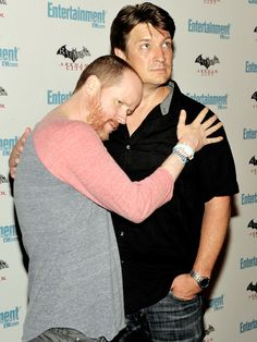Joss Whedon and Nathan Fillion