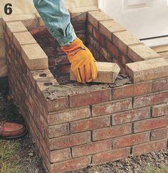 How to Build a Brick Planter Brick Planter, Succulent Wall Planter, Railing Planters, Hanging Wall Planters, Diy Concrete Planters, Diy Hanging Planter, Stone Planters, Patio Planters, Planter Ideas