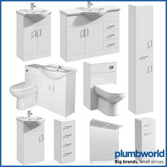 Classic Bathroom Vanity Unit Cloakroom Basin Sink Storage White Various Sizes. Classy yet functional, the Essence high gloss white bathroom range will make a fantastic addition to any contemporary style bathroom, cloakroom or en-suite. Toilet Vanity Unit, Bathroom Sink Vanity Units, Vanity Wash Basin, Cloakroom Basin, Basin Sink, Classic Bathroom, Modern Bathroom, Bathroom Ideas, Cupboards For Sale
