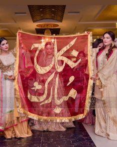 Pakistani Wedding Decor, Desi Wedding Decor, Wedding Stage Decorations, Pakistani Wedding Dresses, Nikkah Dress, Shadi Dresses, Wedding Props, Wedding Ideas, Wedding Bells