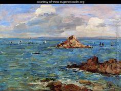 "Eugène Boudin "" La mer à Douarnenez ""www.eugeneboudin.org"