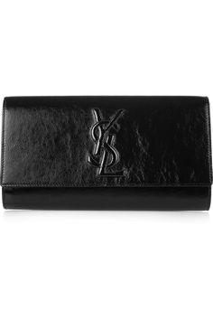 Yves Saint Laurent | The Belle de Jour patent-leather clutch | NET-A-PORTER.COM