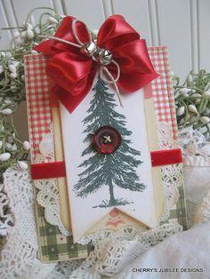 vintage style CHRISTMAS blank glittered by cherrysjubileecards