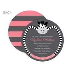 Zebra Teether: Ballet Baby Shower Invitations