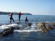 Coasteering with Glen and Rachel! 19th April 2014.