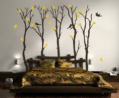 Bedroom Wall Decor Ideas Will Help You To Stylize Your Bedroom - Decor Savage Contemporary Wall Decor, Unique Wall Decor, Modern Art, Bedroom Wall Designs, Bedroom Decor, Bedroom Ideas, Master Bedroom, 3d Wall Painting, House Painting