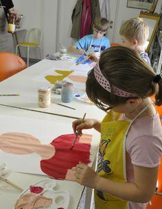 """""""Das bin ich"""" Mal-Workshop für Kinder in der Kreativwerkstatt des Kunstmuseum Waldviertel in Schrems."""