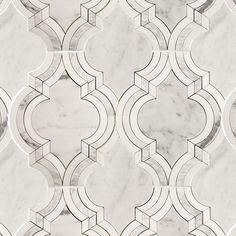 Shop Abernethy Waterjet Tile in White Carrara & White Thassos at TileBar.com.