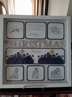 Wall Display Boards Christmas Ornament Crafts, Christmas Diy, Christmas Cards, Xmas, Christmas 2019, Holiday Cards, Christmas Frames, Collage Frames, Pretty Box