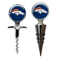 Denver Broncos Wine Bottle Stopper & Opener Gift Set