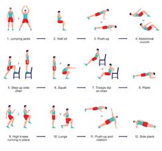 Check out this article onthe scientific 7-minute workout. A friend sent it to me earlier this year. It's a great read. http://well.blogs.nytimes.com/2013/05/09/the-scientific-7-minute-workout/?_r=0