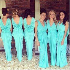 chiffon bridesmaid dress,long bridesmaid dress,blue bridesmaid dress,new bridesmaid dress,BD1628