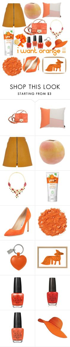 """Orange"" by cissou26 ❤ liked on Polyvore featuring Jimmy Choo, Normann Copenhagen, River Island, Madhuri Parson, Manolo Blahnik, Illamasqua, Mark McGinnis and OPI"