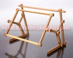 Cruz puntada del bordado bastidor 30 x 40 cm tapiz titular cama mesa soporte de estante de madera
