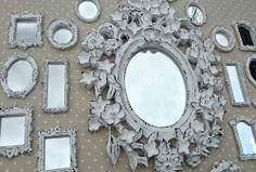 Kit 25 Espelhos Ou Molduras Em Resina Provençal
