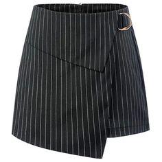 Stripe mini Skirt B Fabric - Cotton Placket- Front Ring Zipper Size - S, M, L Waist - 32 Length - Price - 😍🤗 Golf Skirts, Cute Skirts, Short Skirts, Mini Skirts, Square Neckline Dress, Black Skirt Outfits, Skirt Fashion, Fashion Outfits, Wrap Skort