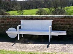 Roll it around, in and out of the sun. wheel barrow garden bench