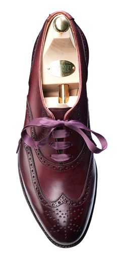 Jenny Burgundy Calf, Ladies Brogue Shoe | Crockett & Jones