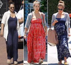 love that effortless style when pregnant. long dresses and long skirts is a must!