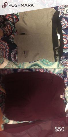 Nike and pink Vs pink long sleeve shirt, Nike spandex PINK Victoria's Secret Shorts