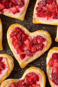 Heart-Shaped Strawberry Cream Cheese Breakfast Pastries | Cooking Classy
