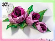 ribbon rose tutorial, step by step photo's Ribbon Art, Diy Ribbon, Fabric Ribbon, Ribbon Crafts, Flower Crafts, Fabric Crafts, Sewing Crafts, Ribbon Rose, Handmade Flowers