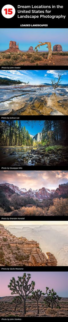 15 Dream Locations in the United States for Landscape Photographers
