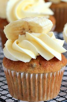The Most Fabulous Banana Cupcakes