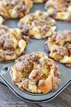 French Toast Muffins Served with Maple Syrup and Butter....OMG They Are SO Good and Perfect for Brunch!!.