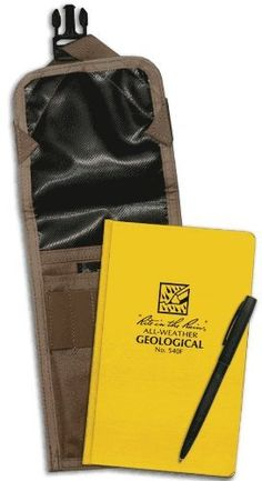 Rite in the Rain Geological Field Book Kit by Rite In The Rain. Save 12 Off!. $49.95. Kit Includes; Black Matte Pen #97. Geological Field Book #540F. Cover - Cordura #C540F. Size - Fits one field book, acid bottle and pens. Weight - 0.95 lb. EA. This all-weather bound book kit comes equipped with the C540F Cordura® Pouch, the 540F Geology Field book with 20 helpful reference pages, and a No. 97 All-Weather Pen. Kit does not include an acid bottle.