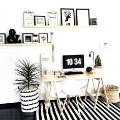 48 Ideas for home office scandinavian desk areas Home Office Design, Home Office Decor, House Design, Home Decor, Office Designs, Office Decorations, House Decorations, Office Walls, Office Shelf
