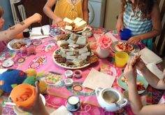 You don't need anything fancy to put together a wonderful tea party for kids. Boys like tea parties, too! #kids #activities